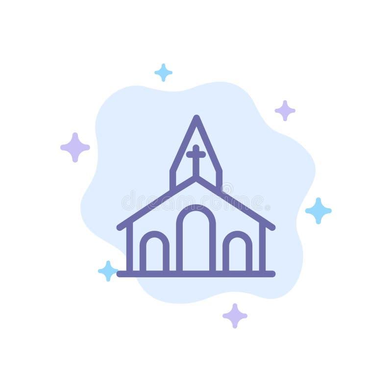 Церковь, торжество, Кристиан, крест, значок пасхи голубой на абстрактной предпосылке облака бесплатная иллюстрация