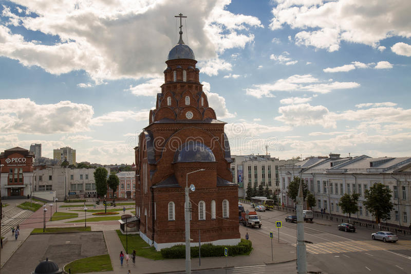 Церковь троицы Владимир Россия май 2017 стоковое фото