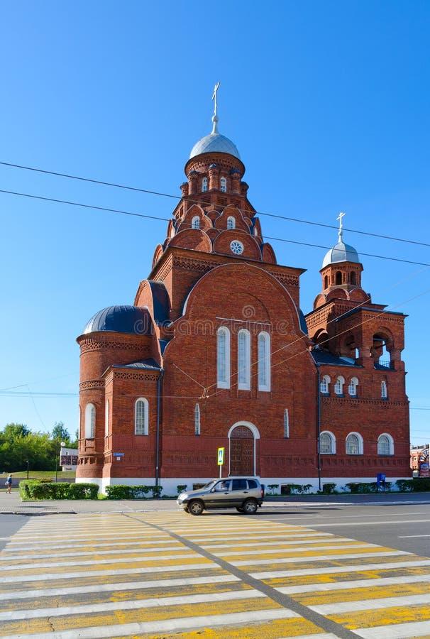Церковь троицы в Владимире, золотом кольце России стоковое изображение