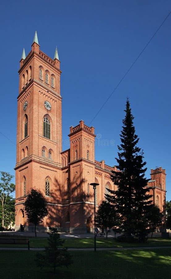 Церковь троицы протестанта в Vaasa Финляндия стоковое фото