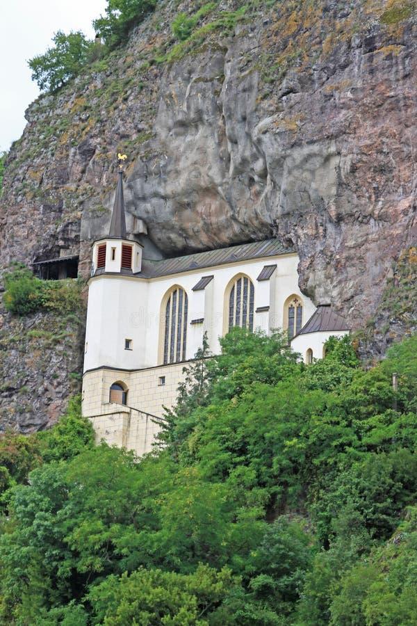 Церковь утеса, Idar-Oberstein, Германия стоковое изображение rf
