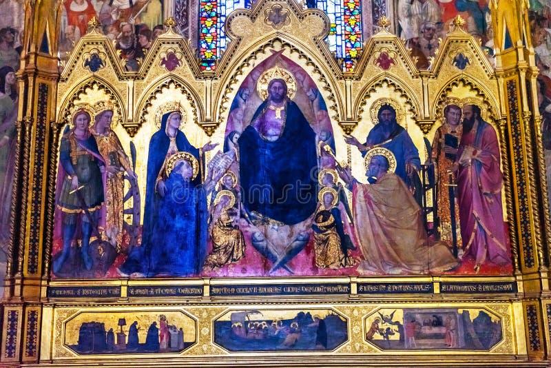 Церковь Флоренс Италия повести Santa Maria часовни Strozzi спасителя Altarpiece стоковая фотография rf