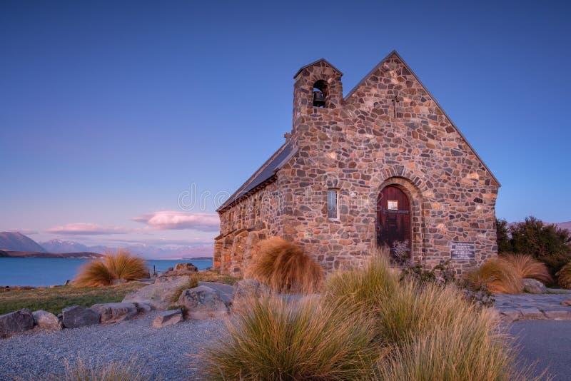 Церковь хорошего чабана на озере Tekapo в Новой Зеландии стоковые фото
