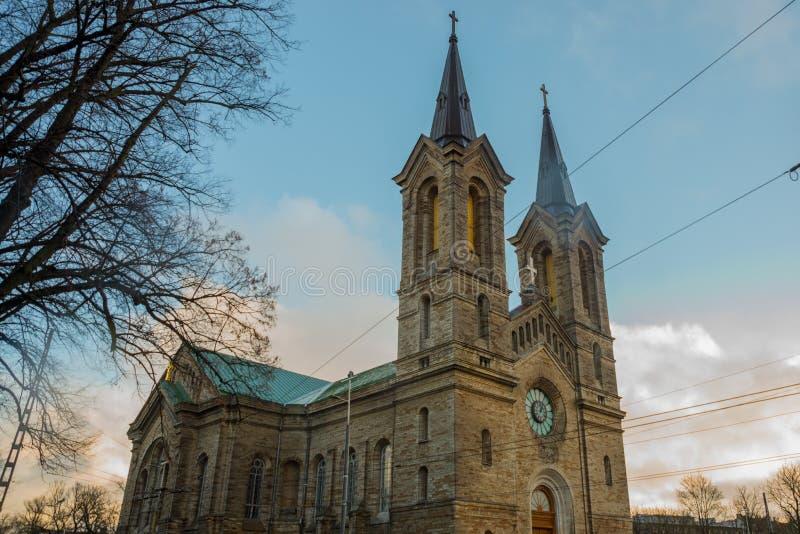 Церковь Чарльза, kirik Kaarli, церковь лютеранина в Таллине, Эстонии стоковые фотографии rf