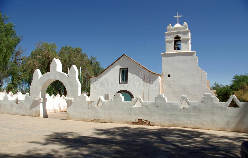 церковь Чили старая стоковая фотография rf