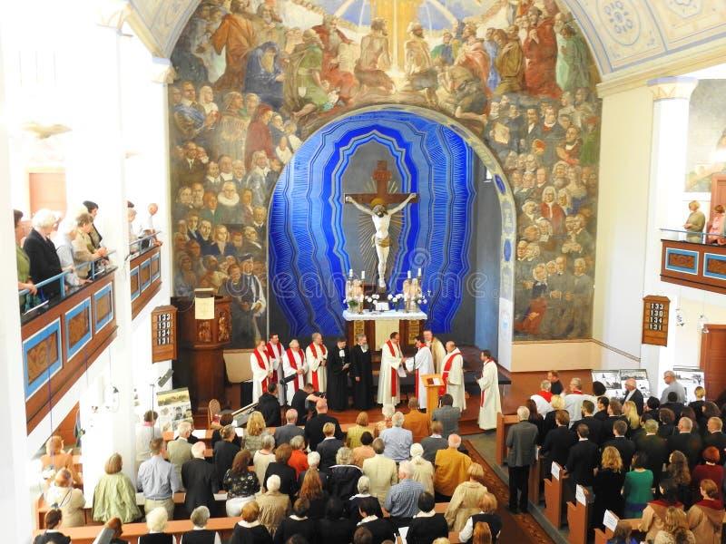 Церковь лютеранина Мартина Luther евангелистская, Литва стоковые фотографии rf