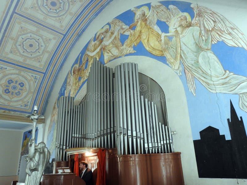 Церковь лютеранина Мартина Luther евангелистская, Литва стоковые фото