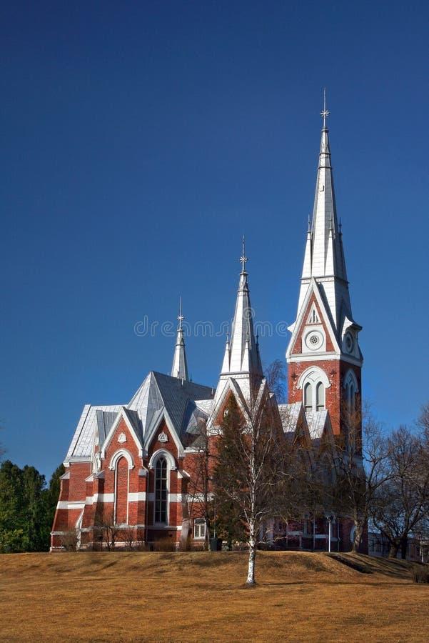 Церковь лютеранина Финляндия Joensuu евангелистская стоковые изображения rf