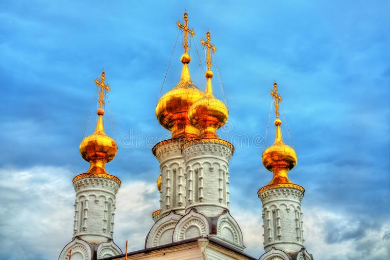 Церковь явления божества, монастырь Transfiguration на Рязани Кремле в России стоковые фотографии rf