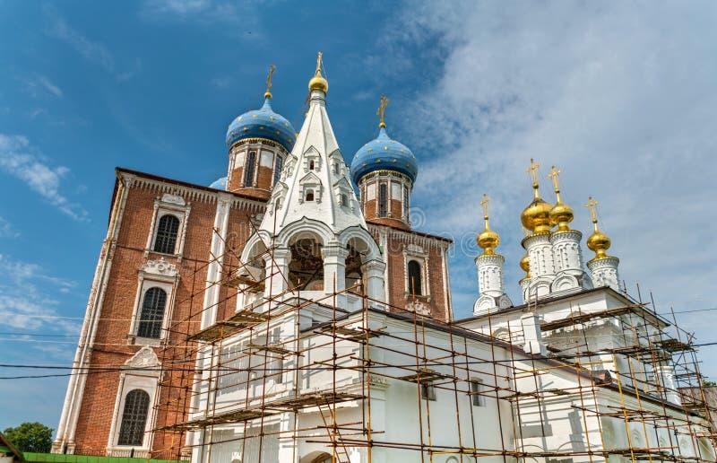 Церковь явления божества, монастырь Transfiguration на Рязани Кремле в России стоковая фотография rf