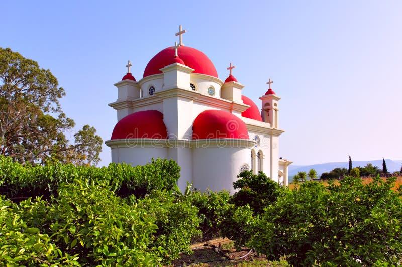 церковь 7 апостолов стоковое изображение rf