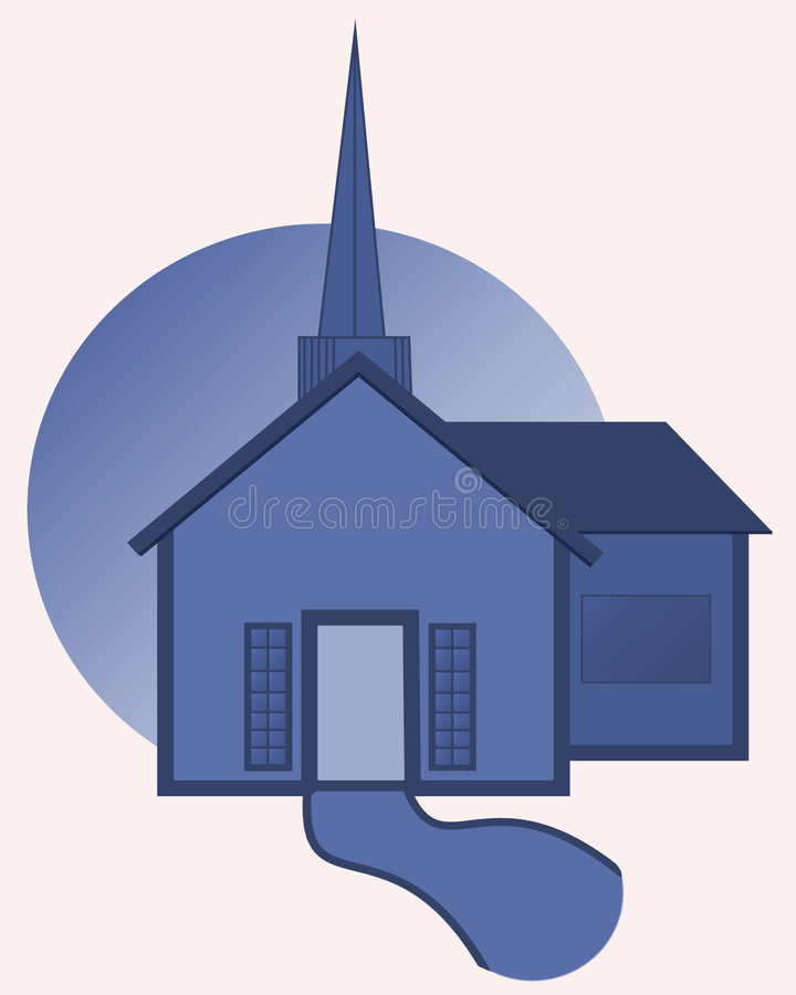 Download церковь иллюстрация штока. иллюстрации насчитывающей луна - 86217
