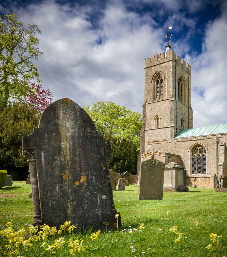 Церковь Ashby замка стоковое фото rf