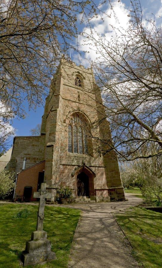 церковь beoley стоковая фотография rf