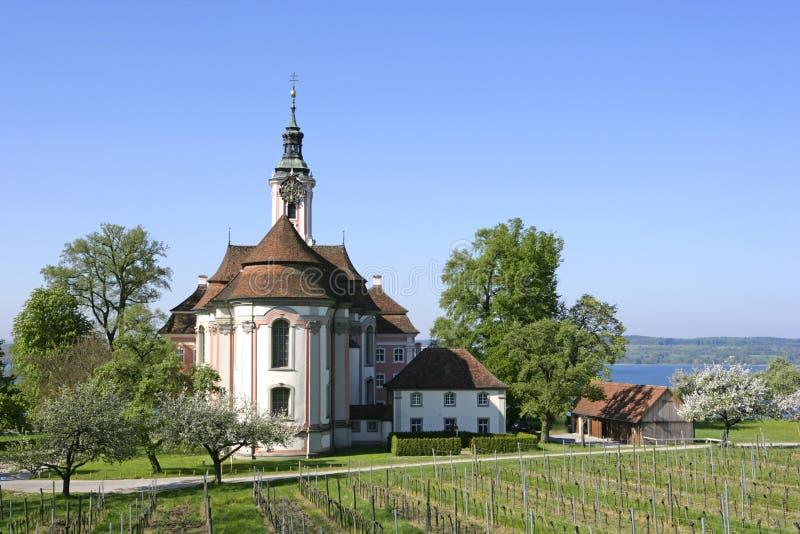 Церковь Birnau паломничества на озере Констанции стоковые изображения