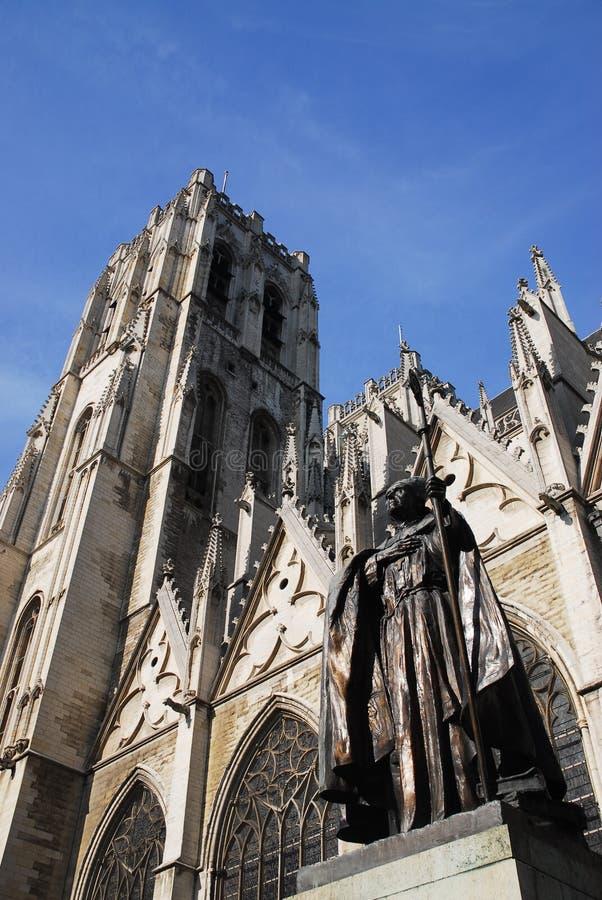 церковь brussels стоковые фотографии rf