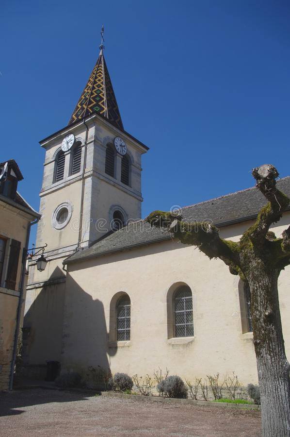 Церковь Burgundy стоковая фотография rf