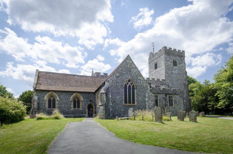 Церковь Chilham, Кент, Великобритания стоковая фотография rf