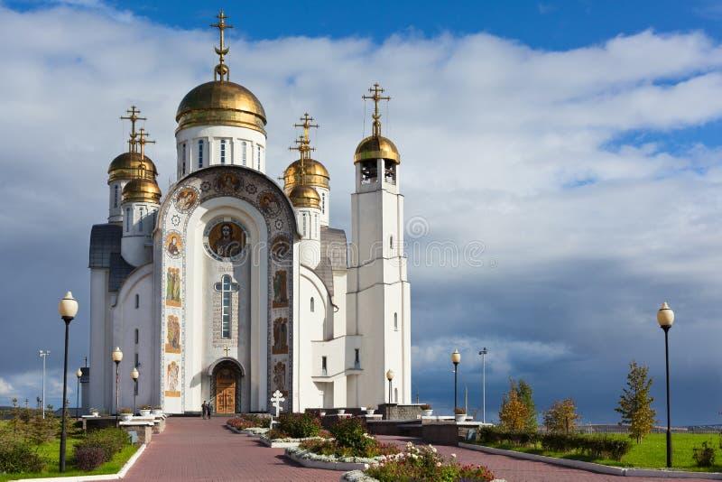 церковь christ восхождения стоковые изображения rf