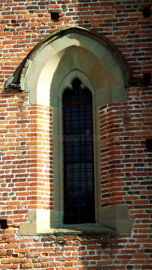 Церковь Collegiata старая детали Деревня Medioeval Castiglione Olona Италия стоковое фото