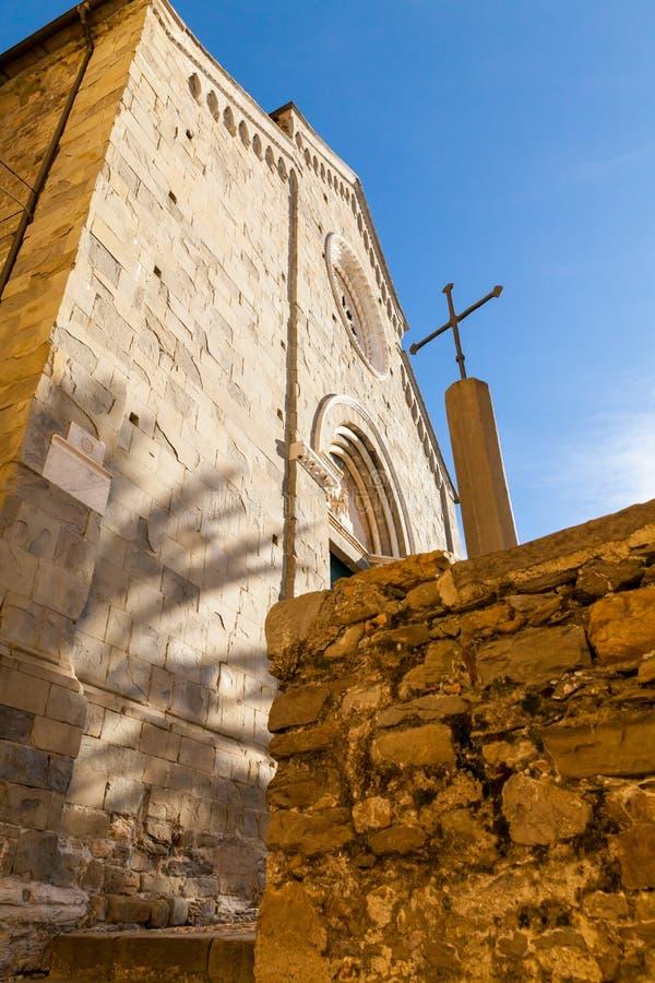 Церковь Corniglia Италия Сан Pietro стоковое изображение