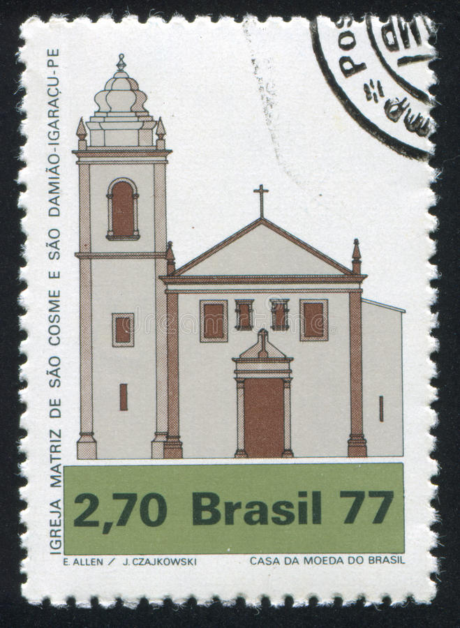 Церковь Cosme и Damiao, Igaracu стоковая фотография rf
