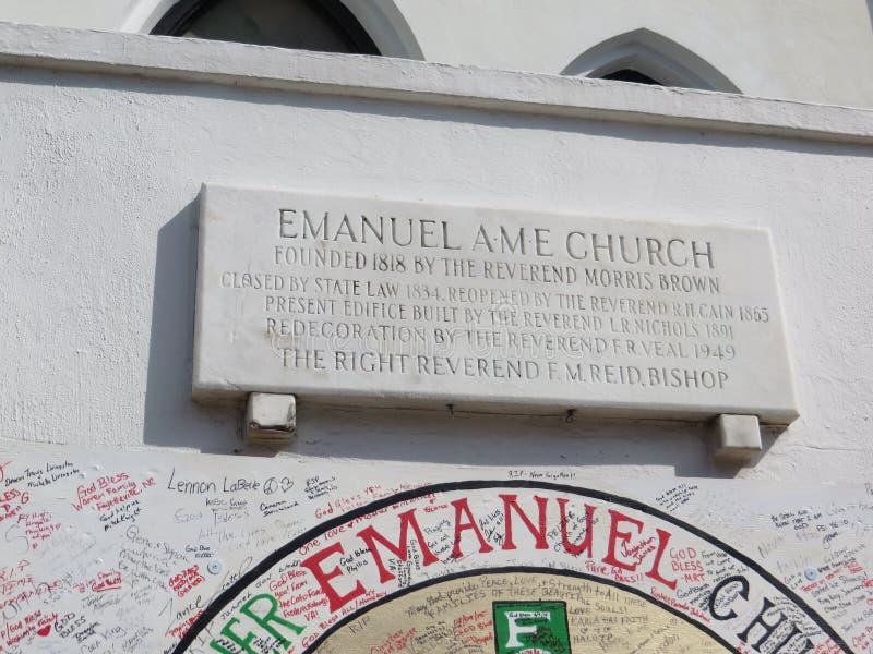 Церковь Emanuel AME, Чарлстон, Южная Каролина стоковая фотография rf