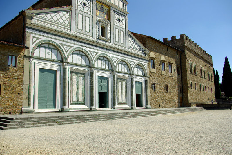 церковь florence Италия старая стоковое изображение rf
