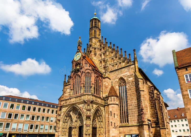 Церковь Frauenkirche в Нюрнберге - Германии стоковое изображение rf