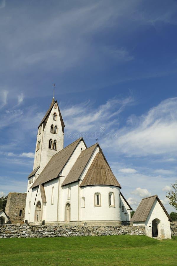 Церковь Gothem в Готланде стоковые изображения