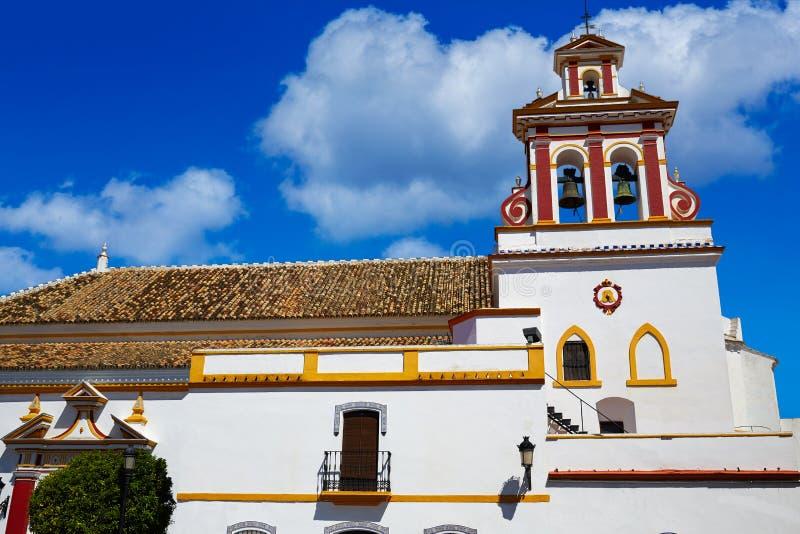 Церковь Guillena на через путь Испанию de Ла Plata стоковые фотографии rf