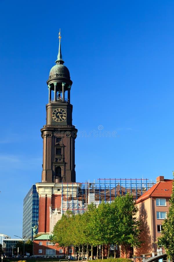 церковь hamburg michel стоковая фотография rf