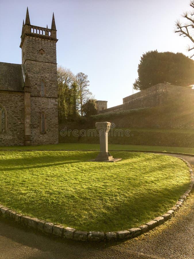 Церковь Hillsborough в январе стоковые изображения rf