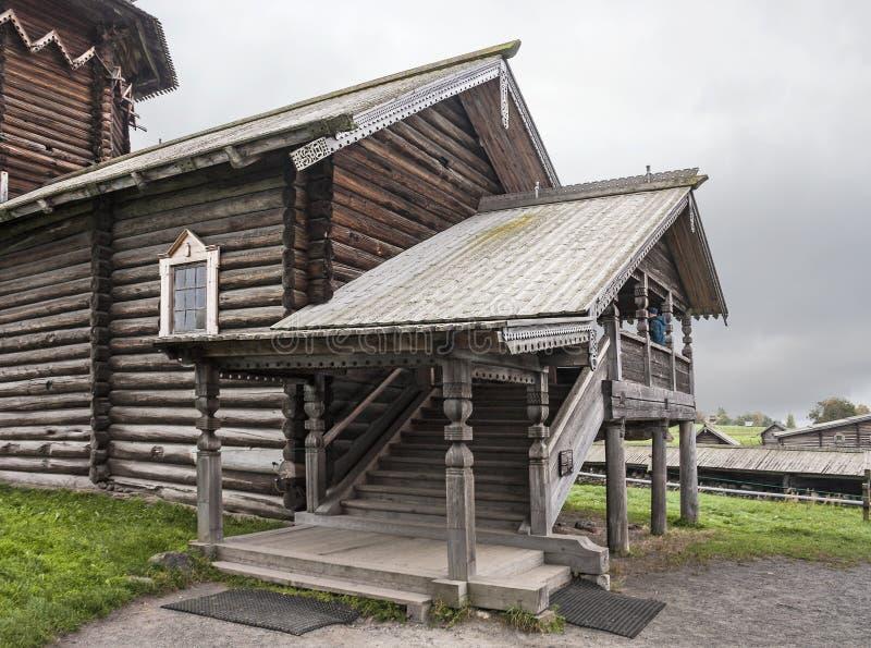 Церковь Intercession Остров Kizhi, район Medvezhyegorsky, Karelia Российская Федерация стоковые фото