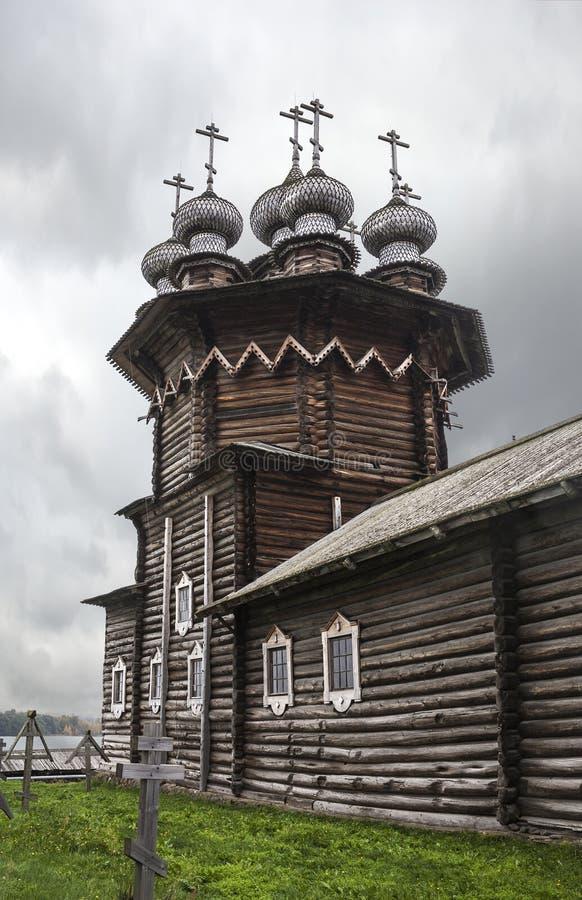 Церковь Intercession Остров Kizhi, район Medvezhyegorsky, Karelia Российская Федерация стоковое изображение