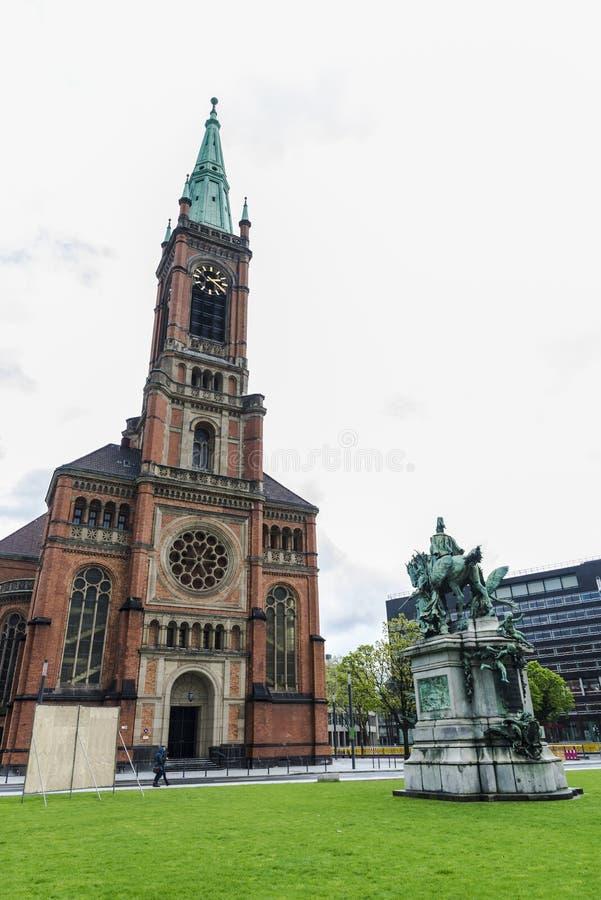 Церковь Johanneskirche St. John в Дюссельдорфе, Германии стоковая фотография