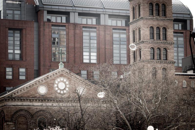 Церковь Judson мемориальная весной стоковые фотографии rf