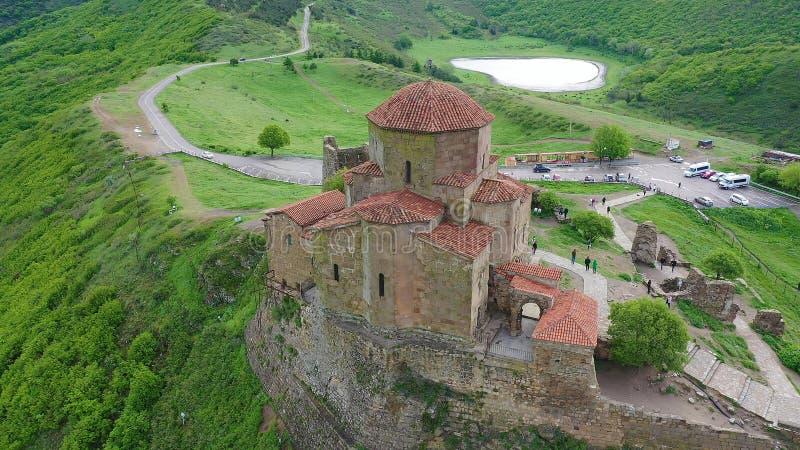 Церковь Jvari: Монастырь красивого шестого века грузинский правоверный стоковое фото rf
