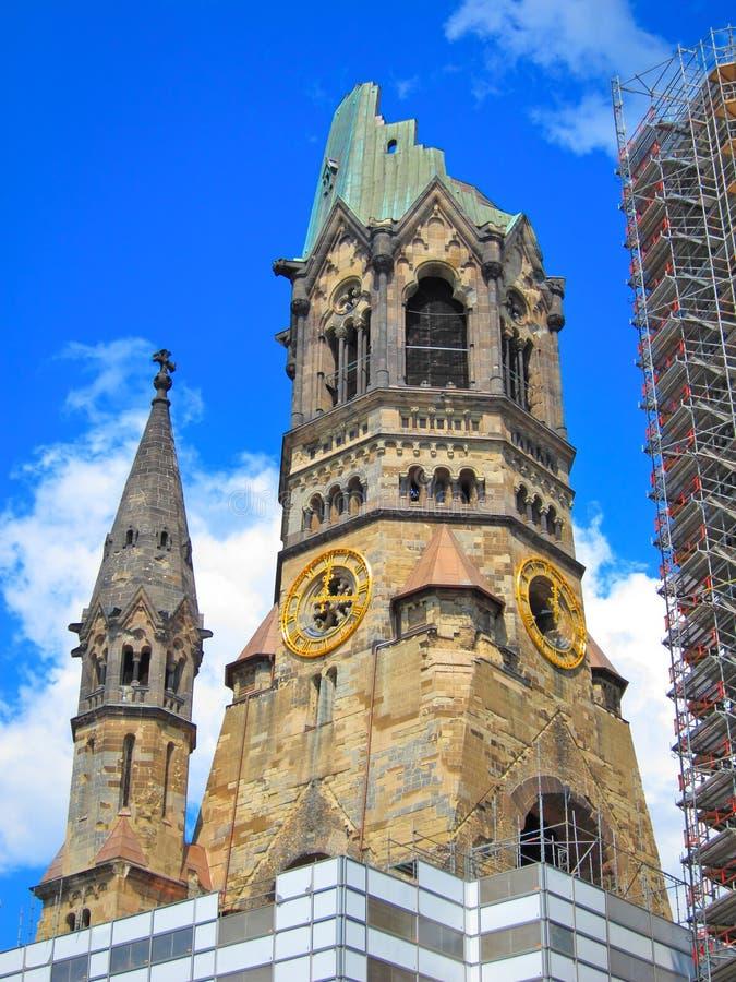 Церковь Kaiser Wilhelm мемориальная, Берлин Германия стоковые фотографии rf