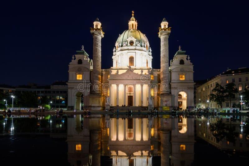Церковь Karls Вены стоковое изображение