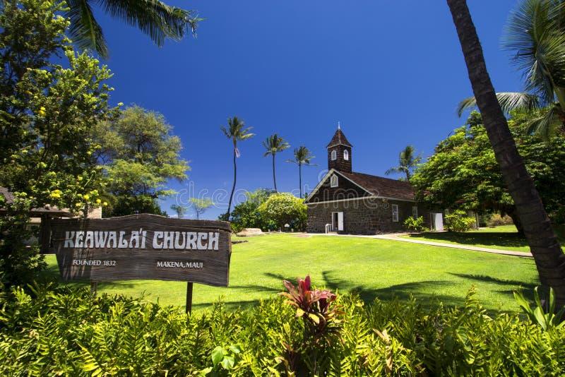 Церковь Keawalai, южный Мауи, Гаваи, США стоковое фото