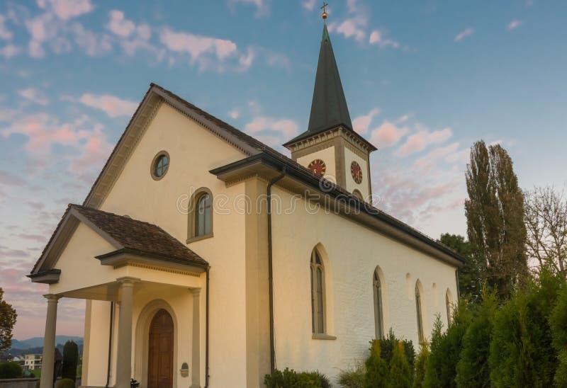 Церковь Kirchdorf деревни Busskirch в Rapperswil-Jona, St Gal стоковые фотографии rf