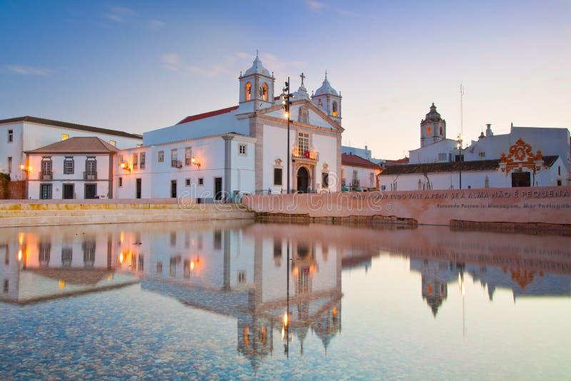 церковь lagos maria s algarve стоковые фото