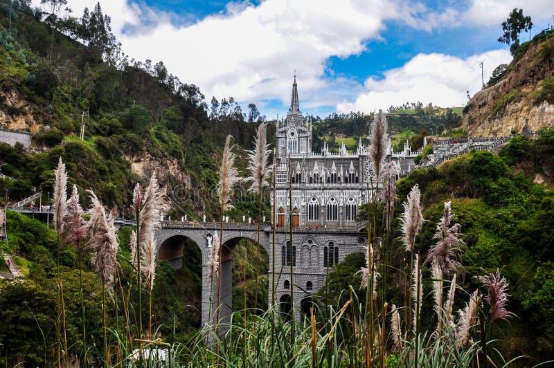 Церковь Las Lajas на юге  Колумбии стоковые изображения