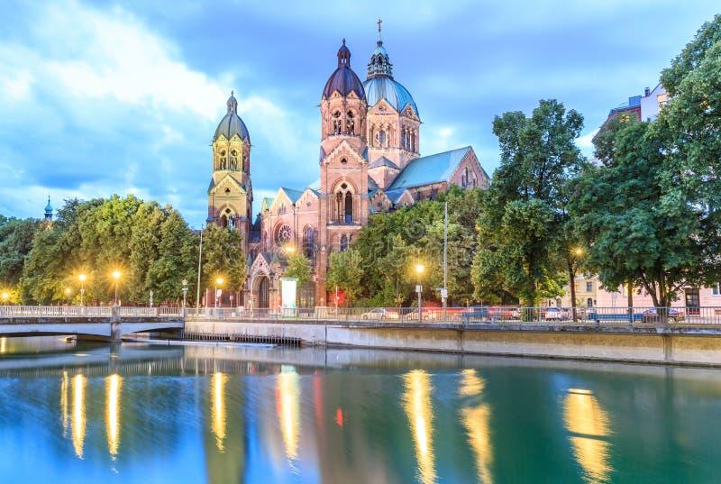 Церковь Lukaskirche St Lukas, Мюнхен стоковое изображение rf
