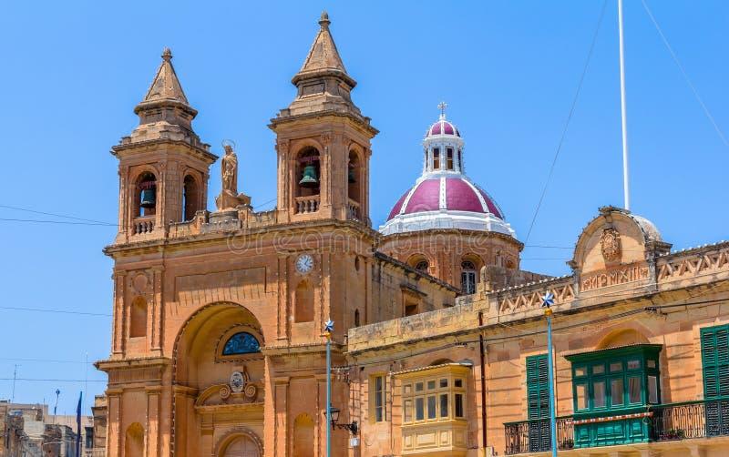 Церковь Marsaxlokk стоковые изображения rf