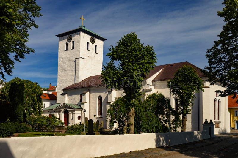 Церковь Marstand на острове th marstrand стоковое изображение