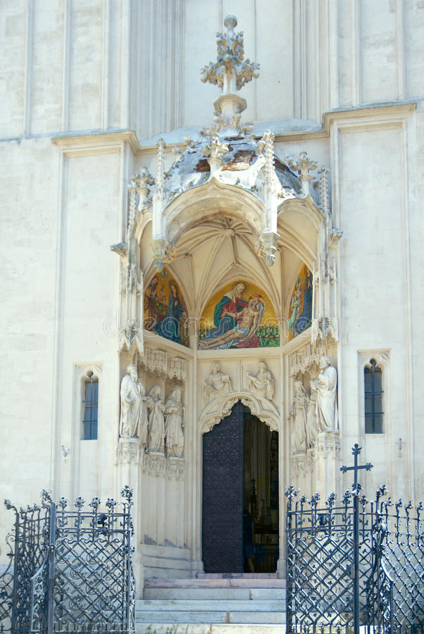 Церковь Mary на береге. Главный портал. Вена, Австрия стоковые изображения