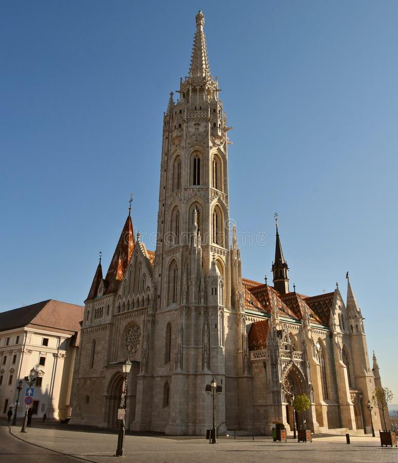 Церковь Matthias в районе замка Будапешта стоковая фотография