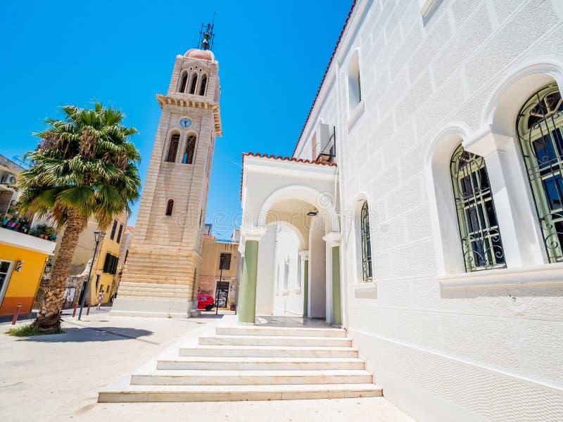 Церковь Megalos Antonios в городе Rethymnon на острове Крита, Греции стоковая фотография rf